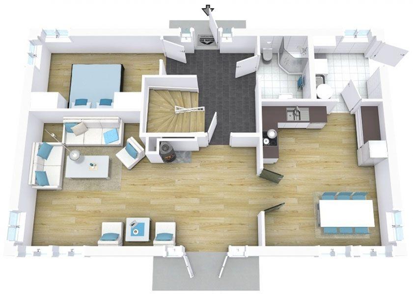 3d Floor Plans Floor Planner Residential Interior Design Floor