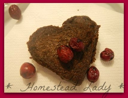 Hearth healthy cranberry recipes for Valentine's Day www.homesteadlady.com