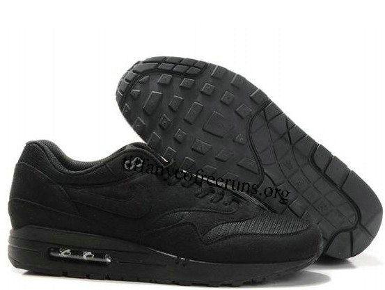 5cb7f17422d ... com Mens Nike Air Max 1 Black Black Shoes half ...