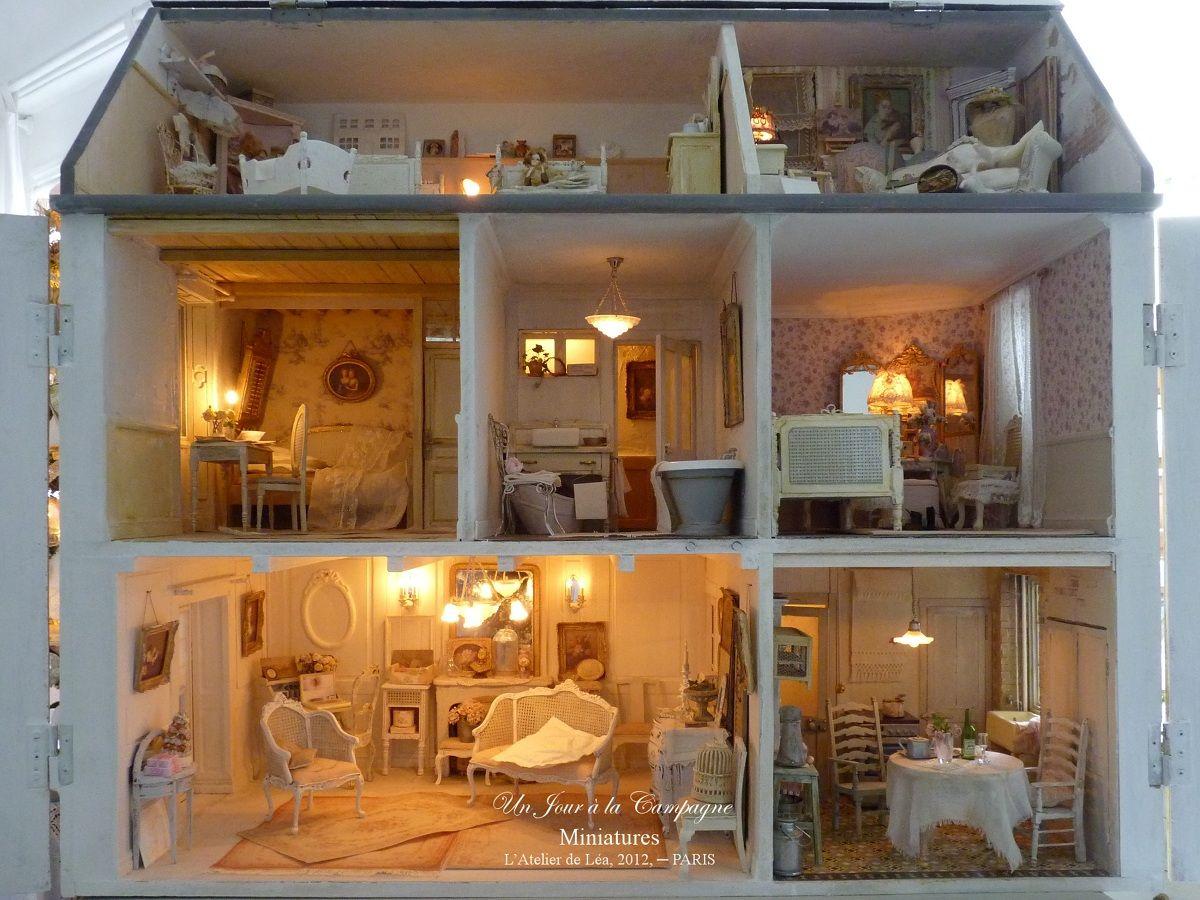 Atelier de Léa - Un Jour à la Campagne ♥*: Villa des Roses | Maison miniature, Miniatures pour ...