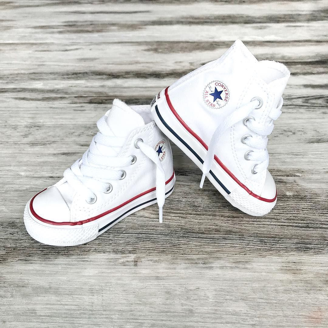 Converse Kids ~ Classic white high top toddler Converse ...