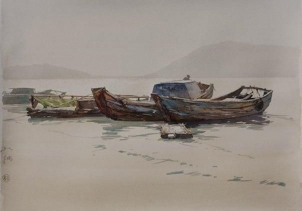 du zhuo watercolor