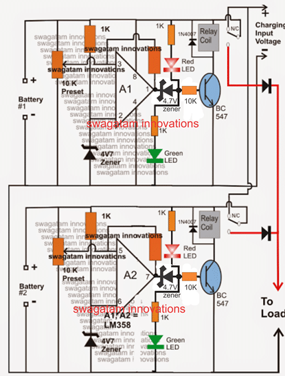 Dual Battery Charger Circuit With Isolator Homemade Circuit
