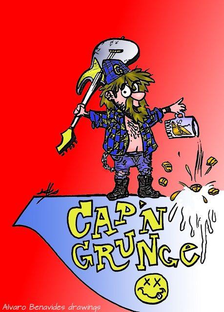 Cap'n Grunge, 2014, Alvaro Benavides art