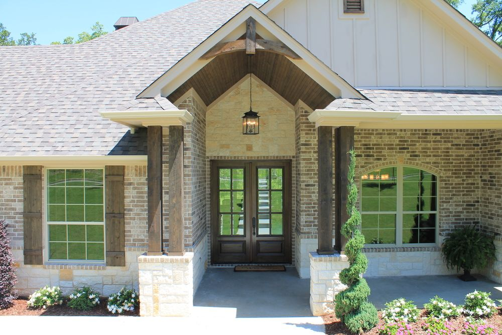 Front Elevation Stone Work : Brick siding front elevation home ideas acme