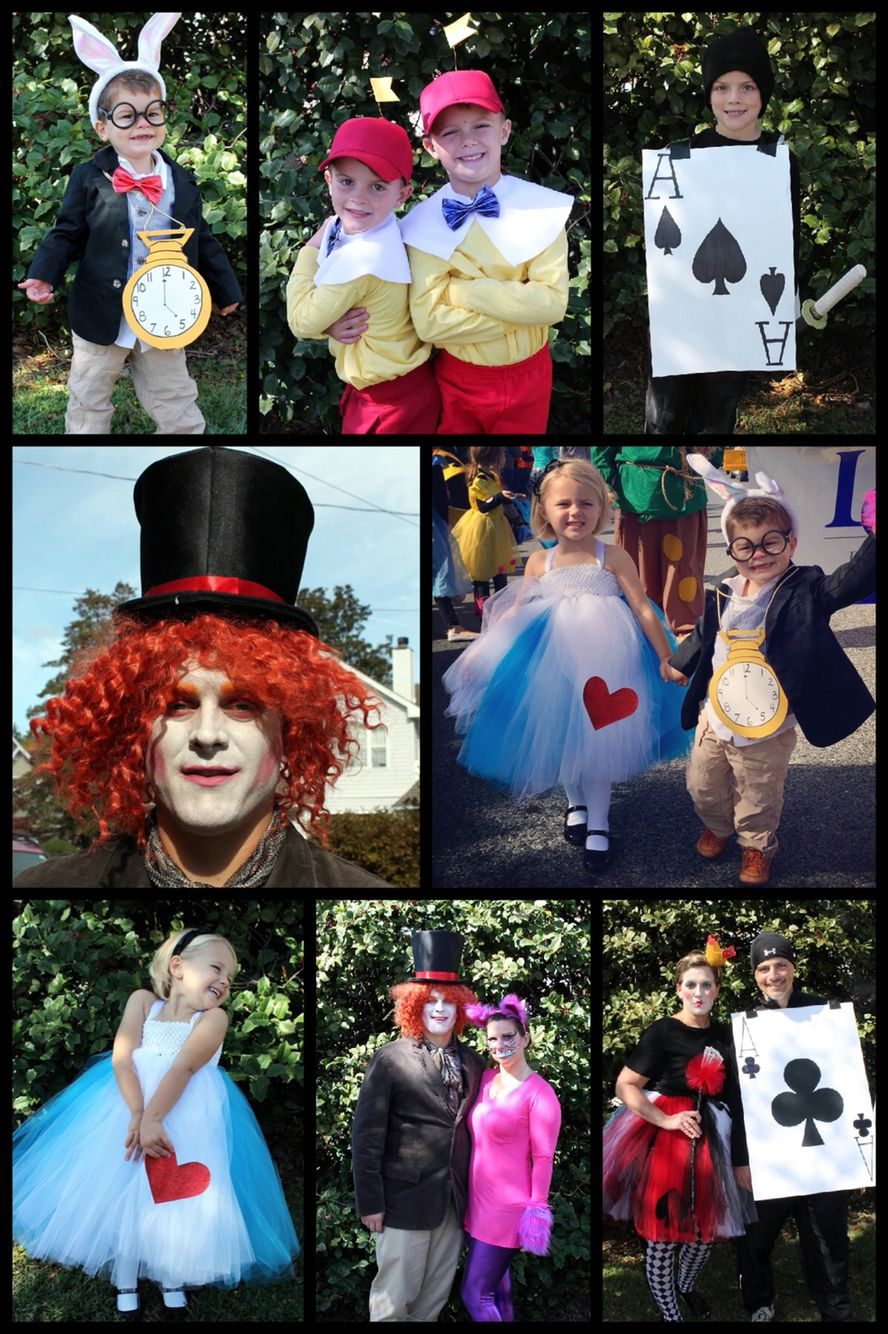 Alice In Wonderland Family Costumes Mickey Halloween Party
