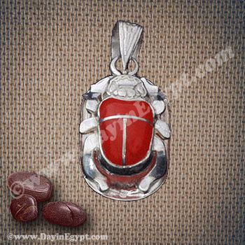 Silver egyptian scarab pendant with red stonepolished silver scarab silver egyptian scarab pendant with red stonepolished silver scarab patterned to perfection by excellent aloadofball Gallery