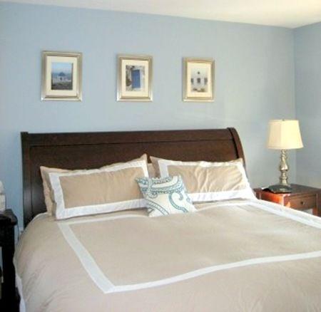 Paint color for bedroom benjamin moore santorini blue for Santorini blue paint