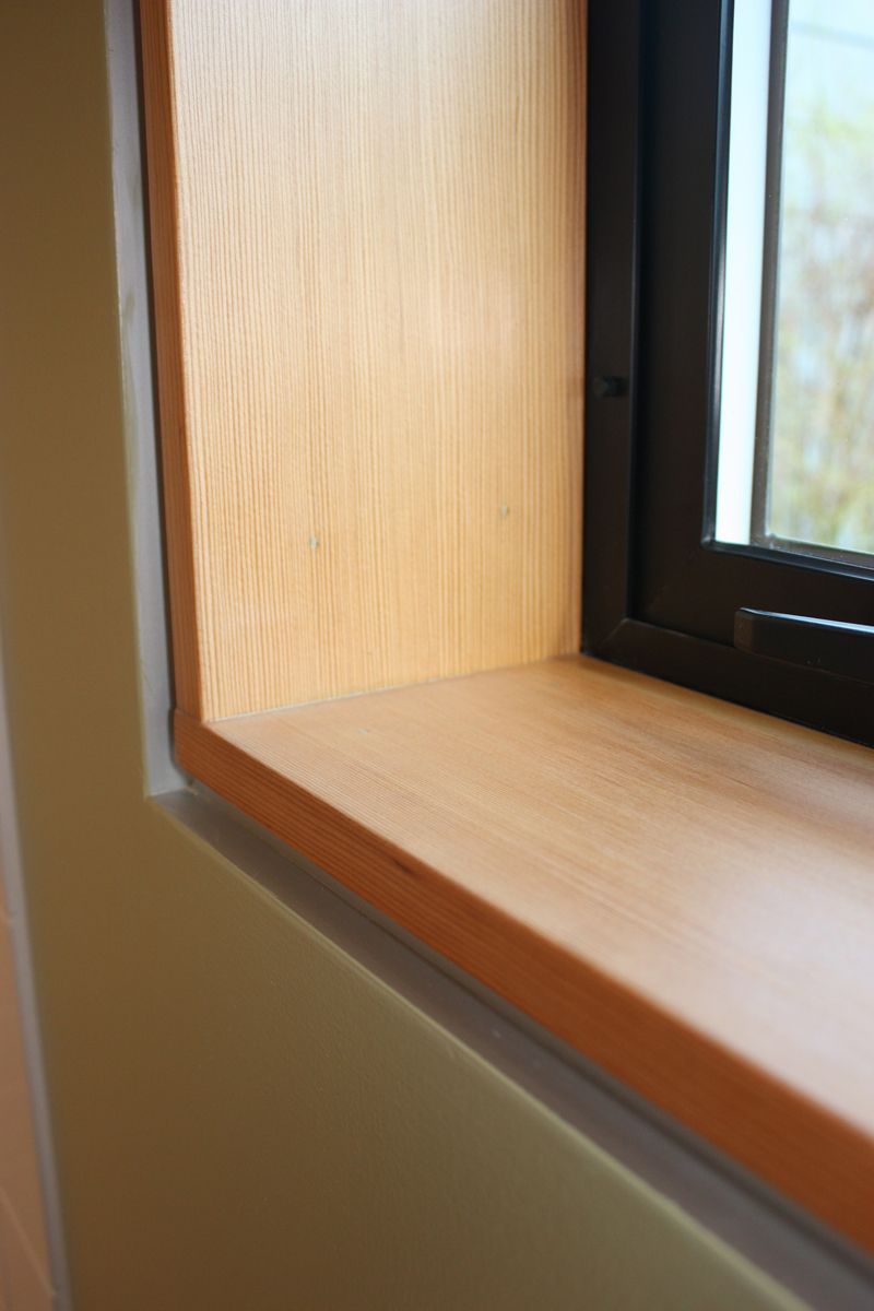 how to finish window casing