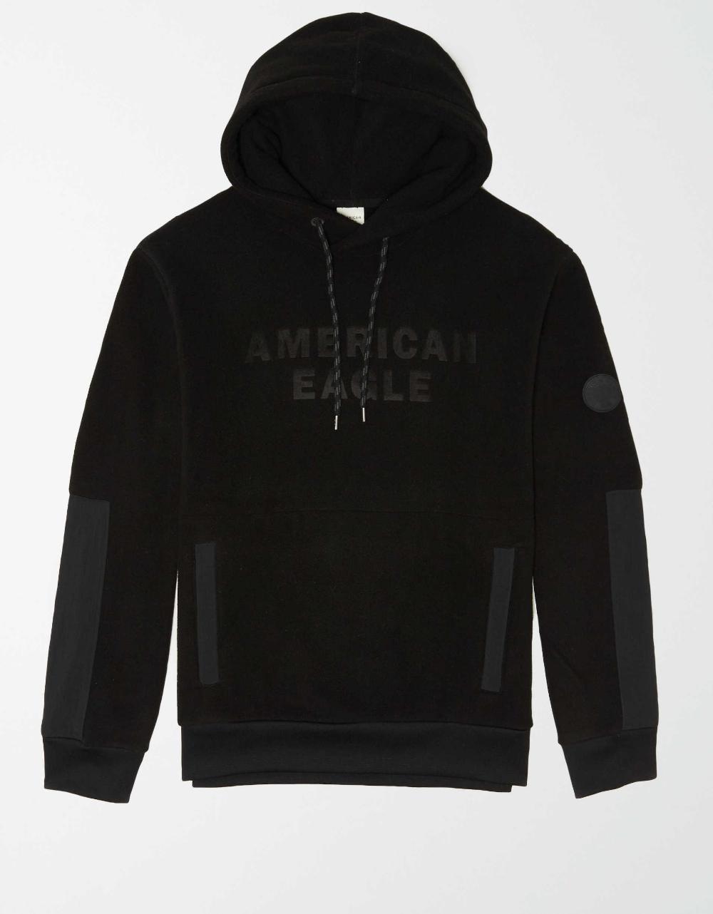 Ae Polar Fleece Logo Hoodie Hoodies Mens Outfitters Hoodies Men [ 1282 x 1000 Pixel ]