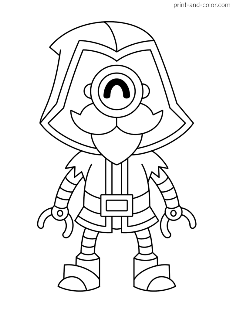 Brawl Stars Coloring Page Character Wizard Barley Star Coloring Pages Star Art Coloring Pages