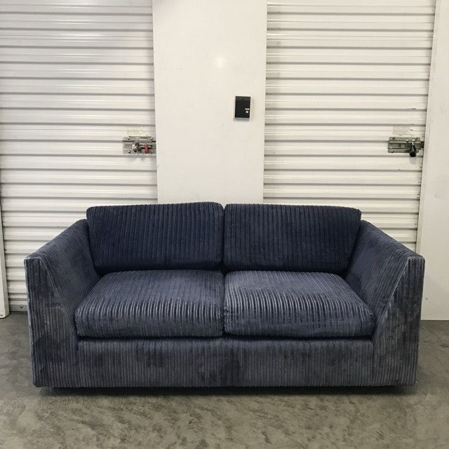 Vintage Blue Corduroy Sofa Love Seat Couch In Los Angeles County Apartment Therapy Marketplace Clifieds