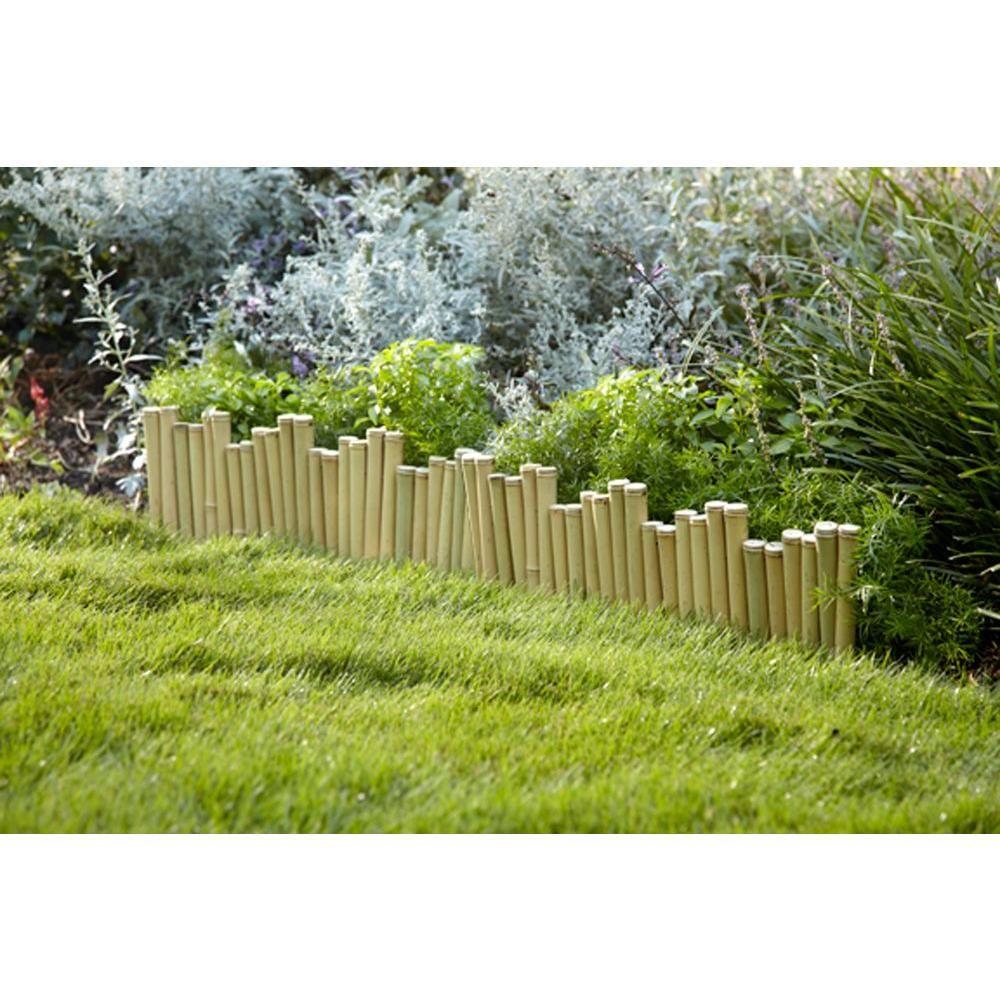 Hampton Bay Natural Pipe Organ 8 In. Bamboo Garden Fence