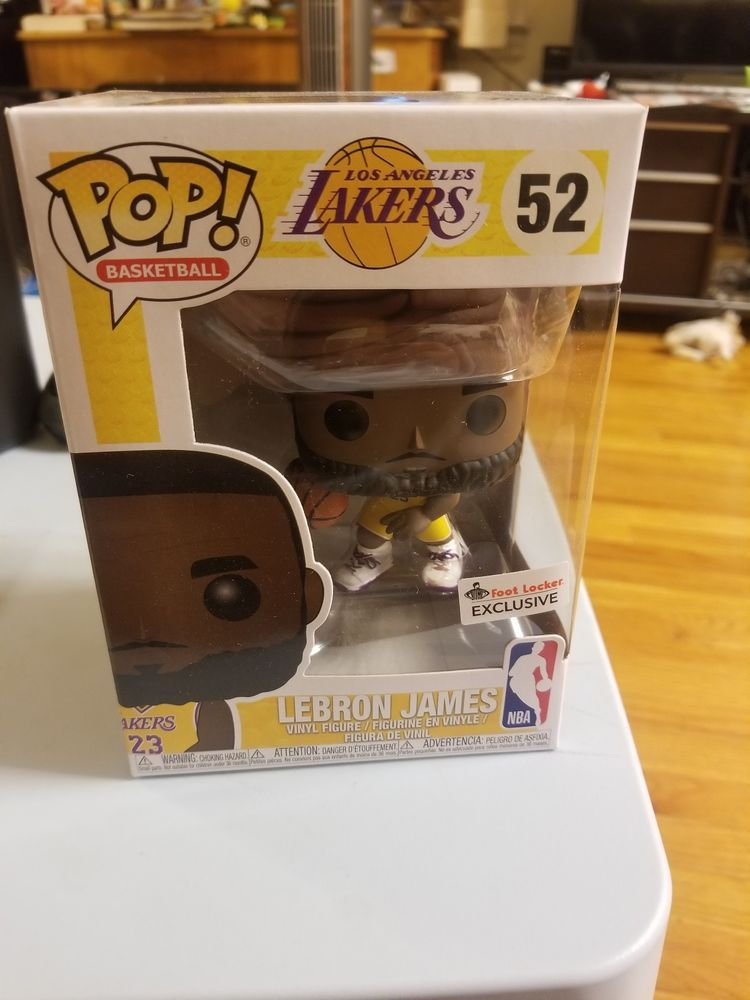 9222b5abc92 Funko Pop! Lebron James  52 Lakers Foot Locker Exclusive Yellow Jersey