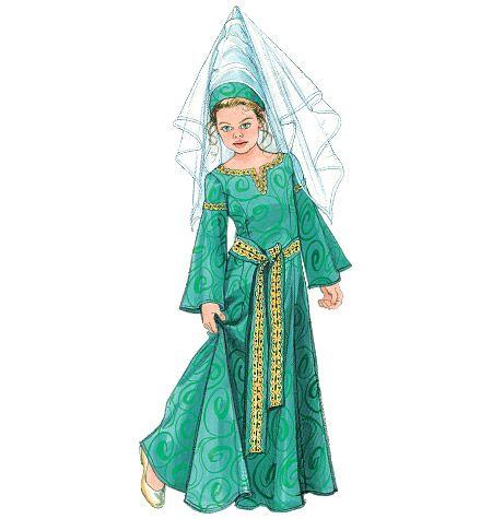 M5499 | Missesu0027/Childrenu0027s/ Girlsu0027 Medieval Costumes | View All | McCallu0027s Patterns  sc 1 st  Pinterest & M5499 | Missesu0027/Childrenu0027s/ Girlsu0027 Medieval Costumes | View All ...