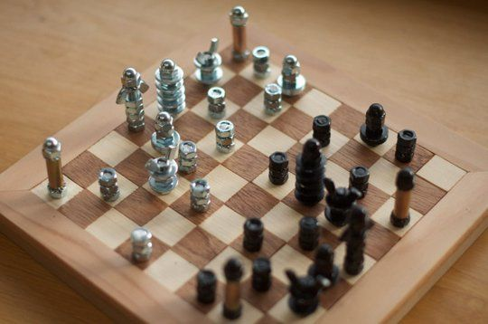 Make Play 5 Creative Diy Games Diy Chess Set Chess Board Diy Games