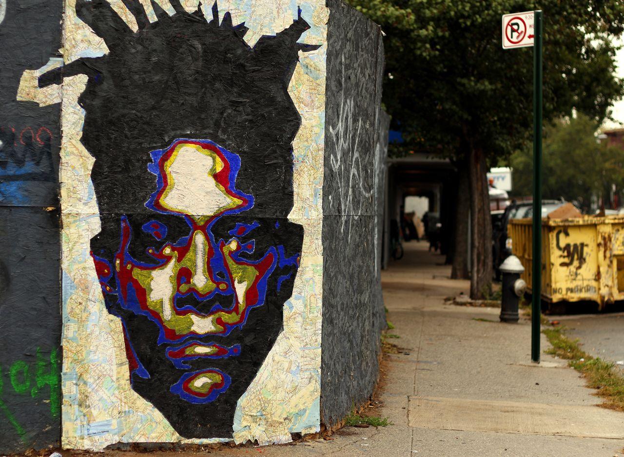 Mural em homenagem a Basquiat