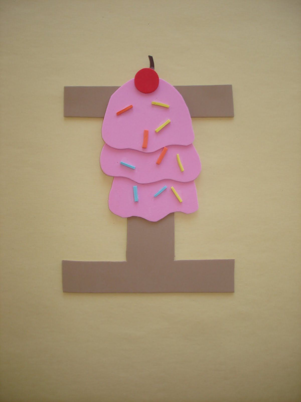 Play And Learn With Dana Letter I Ice Cream