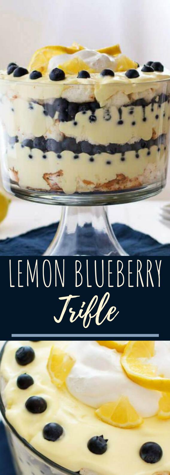 Lemon Blueberry Trifle #summer #dessert