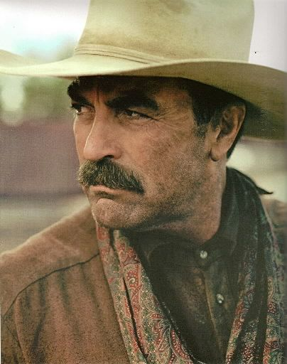 I dare you to find someone who can pair a cowboy hat and a mustache better  than Tom Selleck. 8625ca430878