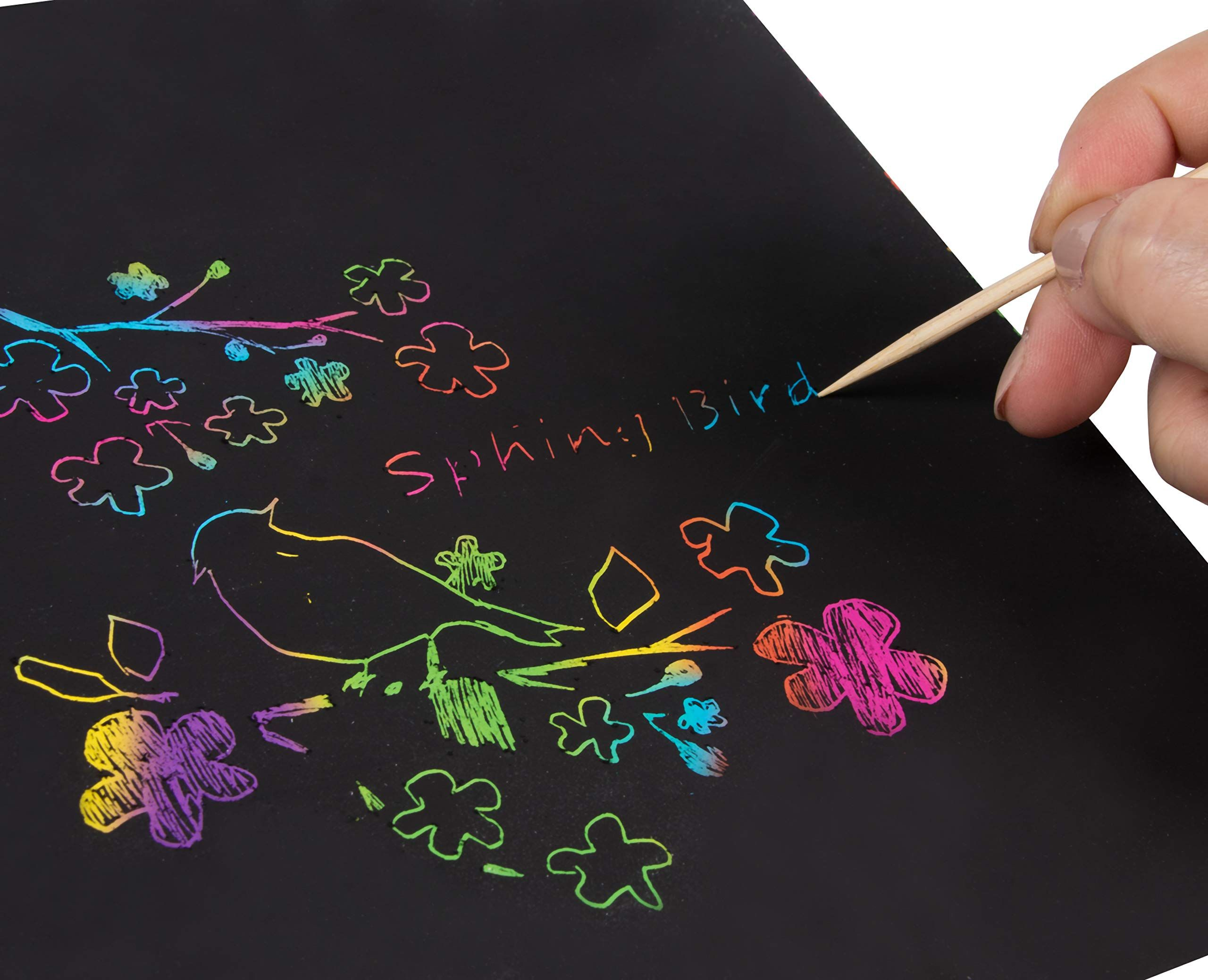 Pin On Scratch Paper Art