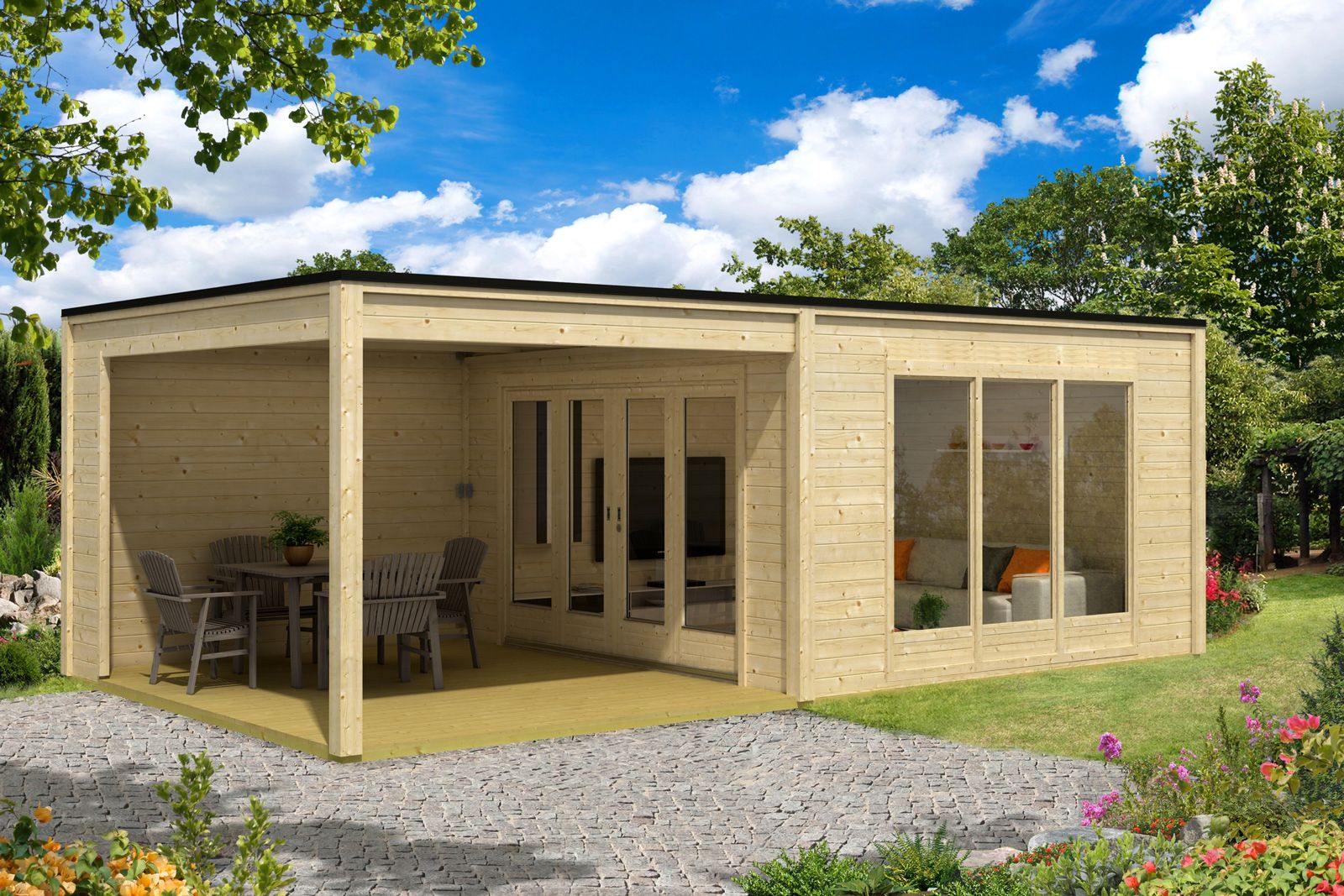 Design Gartenhaus Cubus Plus 40 | Saunas and Haus