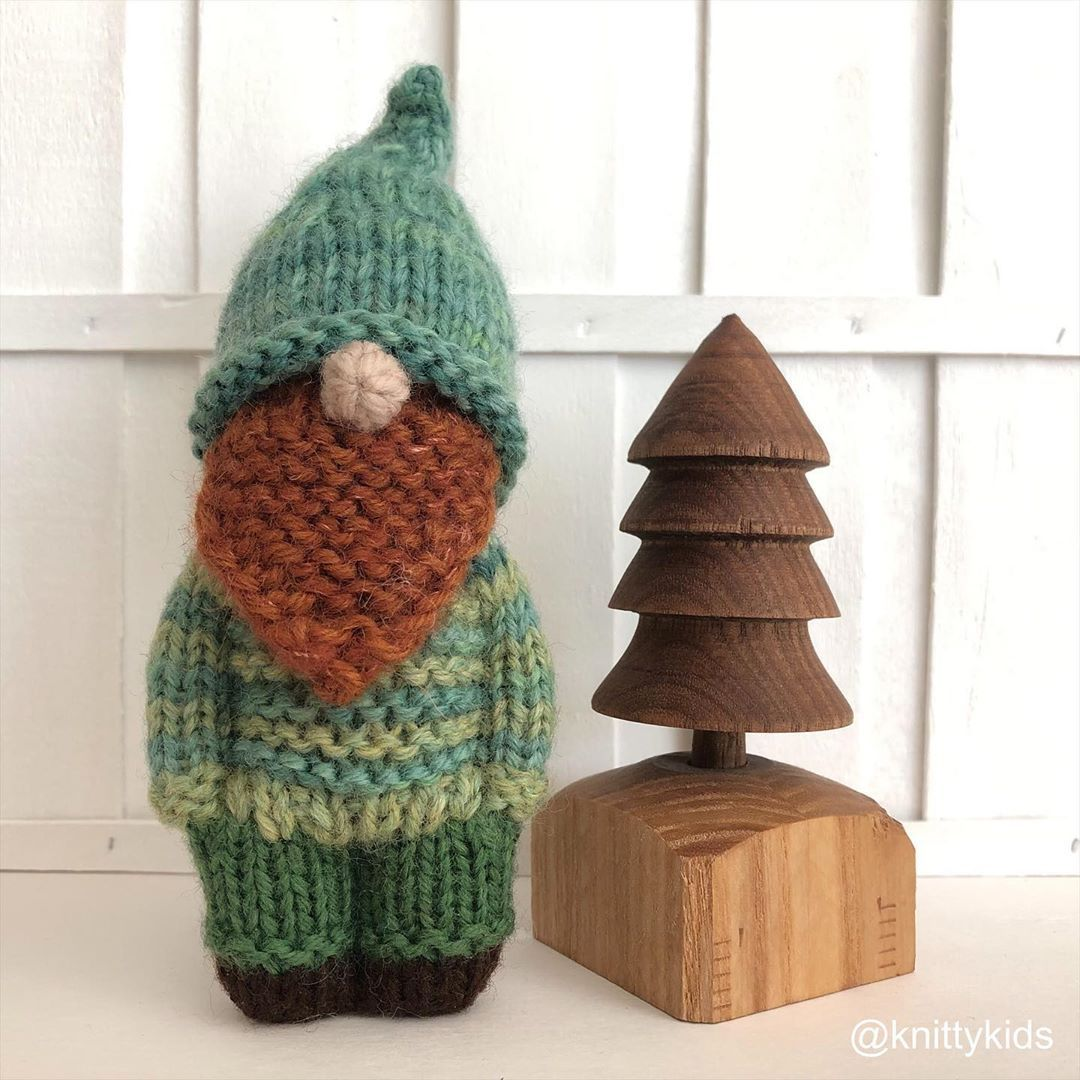 "Photo of Gudrun Dahle on Instagram: "". 🍄 Gnomey leprechaun 🍀 . . ($27 CAD plus shipping, swipe for info) . . #hygge #pocketdoll #handmadedoll #dollmaker #handmadetoys…"""