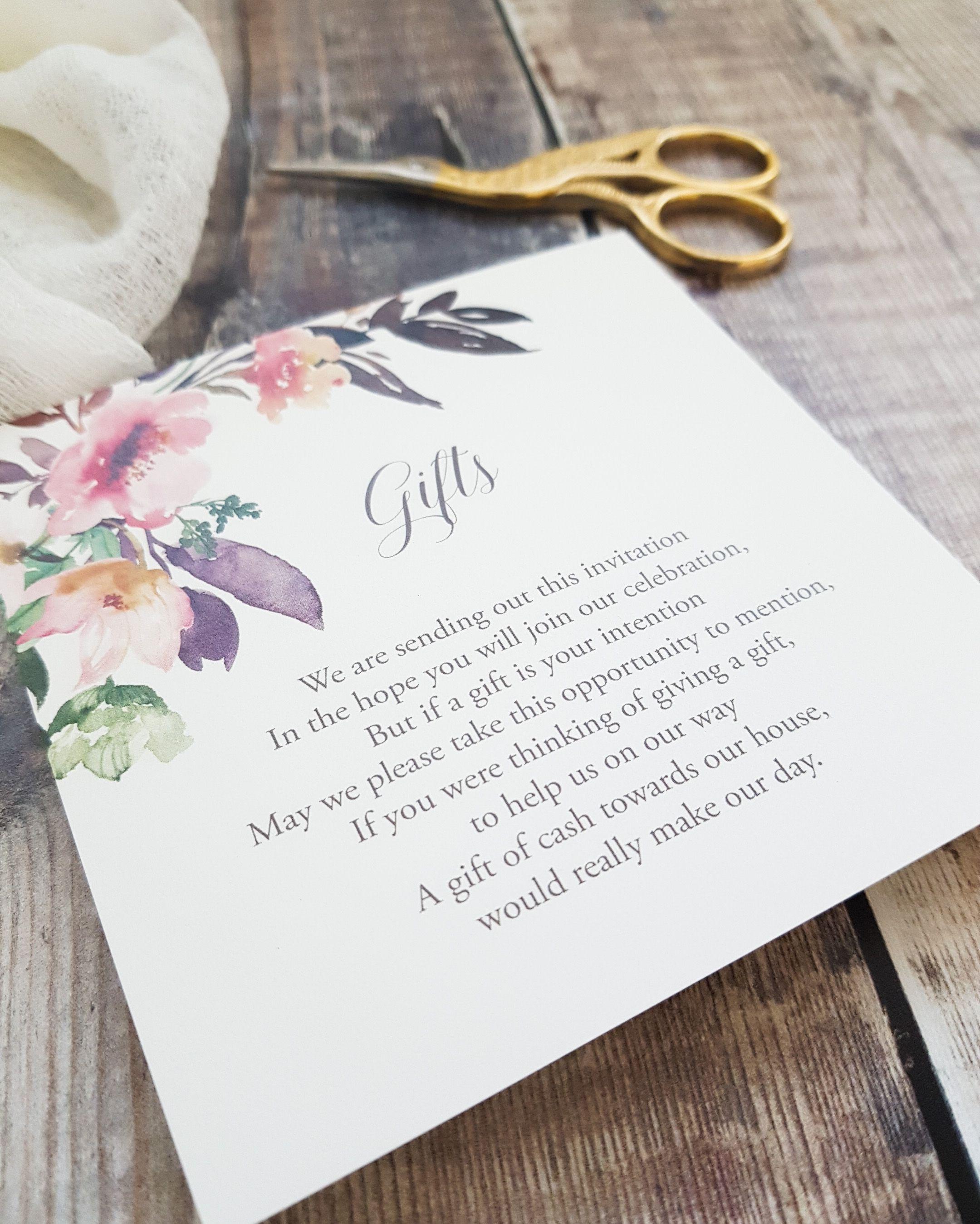 Choosing your wedding gifts wording in 2020 Wedding