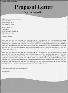 Proposal Letter Template  New Az Templates    Proposal