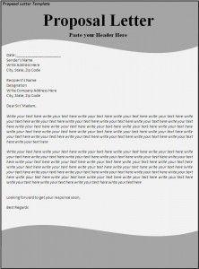 Proposal Letter Template  New Az Templates    Proposal