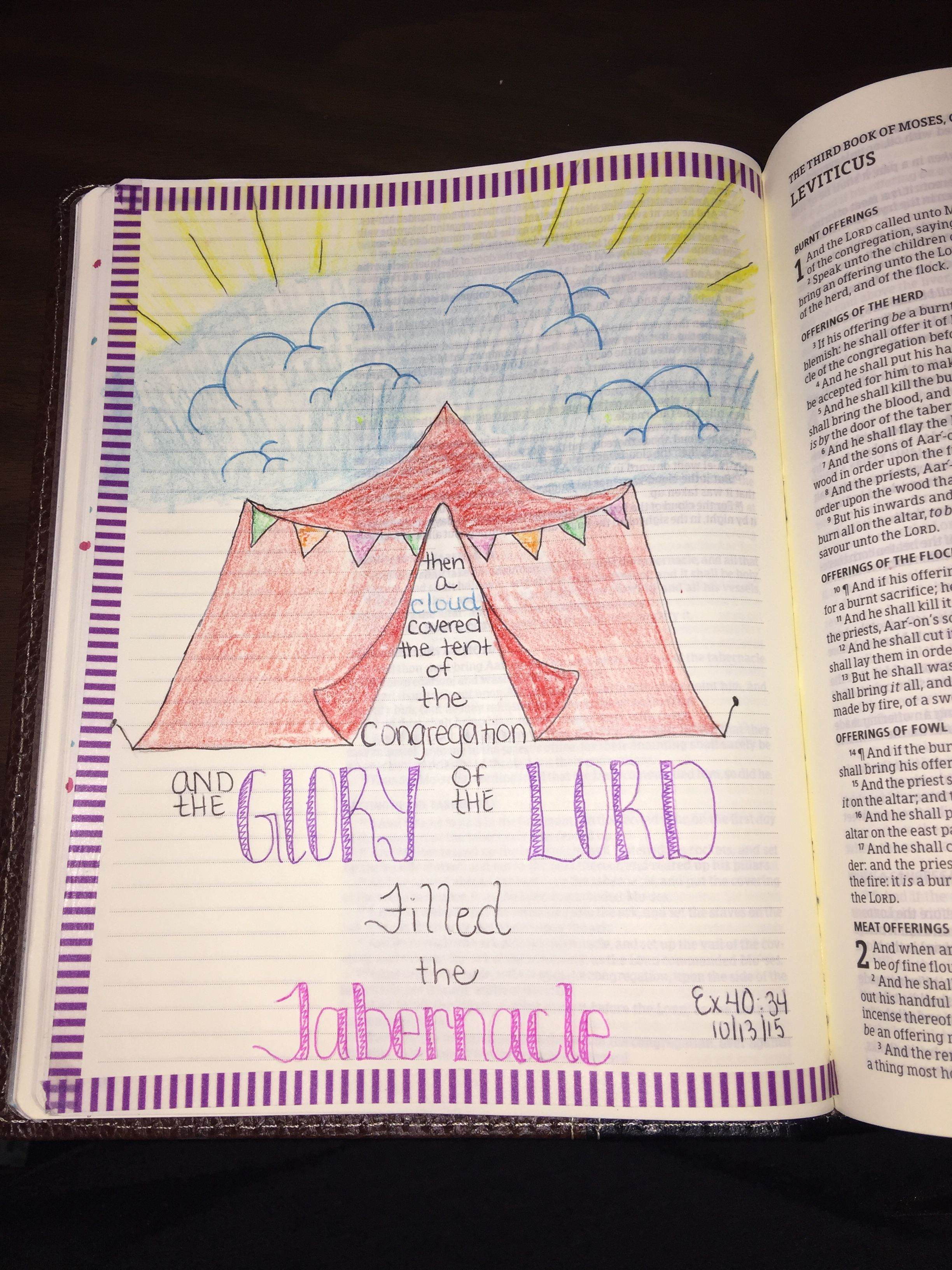Bible journaling, Exodus 40:34 -Lindsey Ramsey | Bible Journaling ...