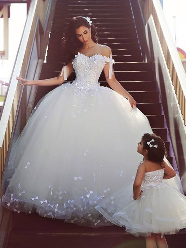 Natural Tulle Sleeveless Lace Wedding Dresses - by OKDress South ...