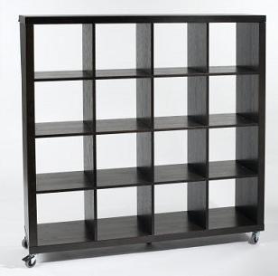 Charming Bookcase On Wheels Eurostyle Sage
