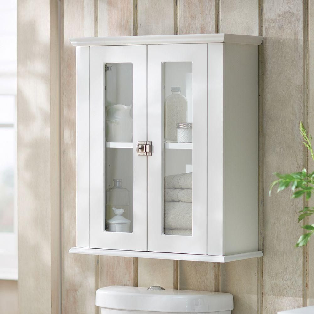 Home Decorators Collection Lamport 22 In W Surface Mount Over John Storage Cabinet White Mist Bhoj22com Wh The Depot