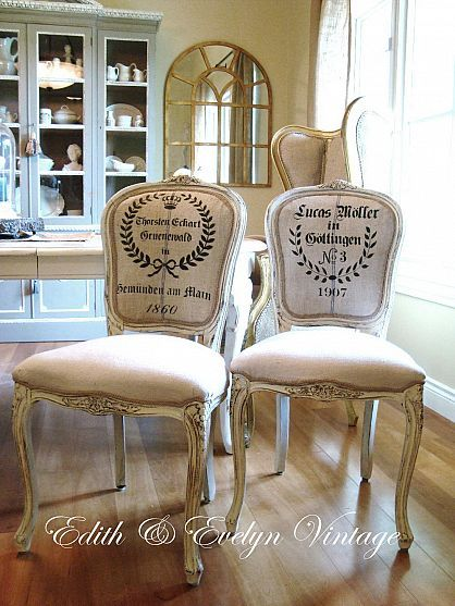 Frenchy Grain Sack Dining Chair Redo Furniture