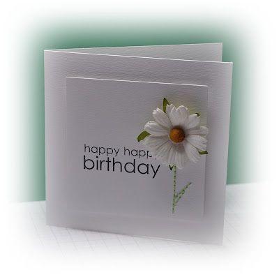 Com papel branco também dá para fazer maravilhosos cartões!