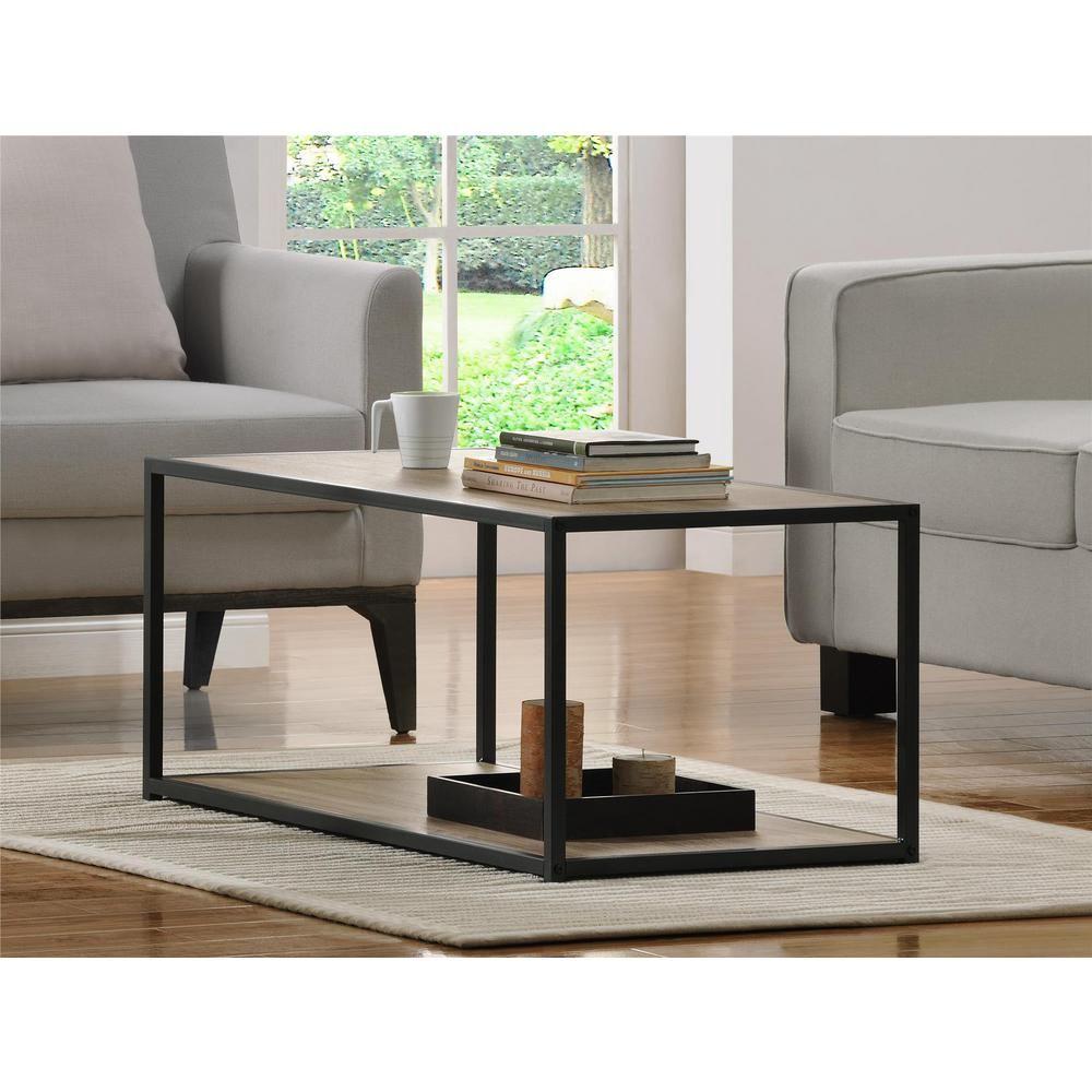 Altra Furniture Canton Sonoma Oak Coffee Table 5070096pcom Oak Coffee Table Coffee Table Metal Frame Sofa End Tables