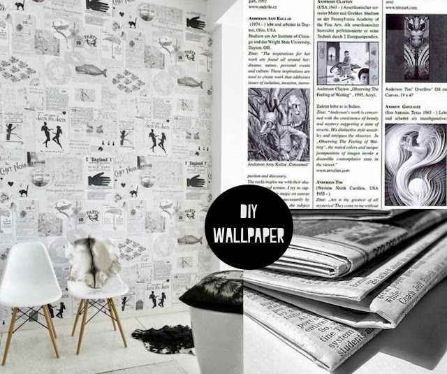 Diy Recycled Paper Wallpaper French By Design Diy Wallpaper