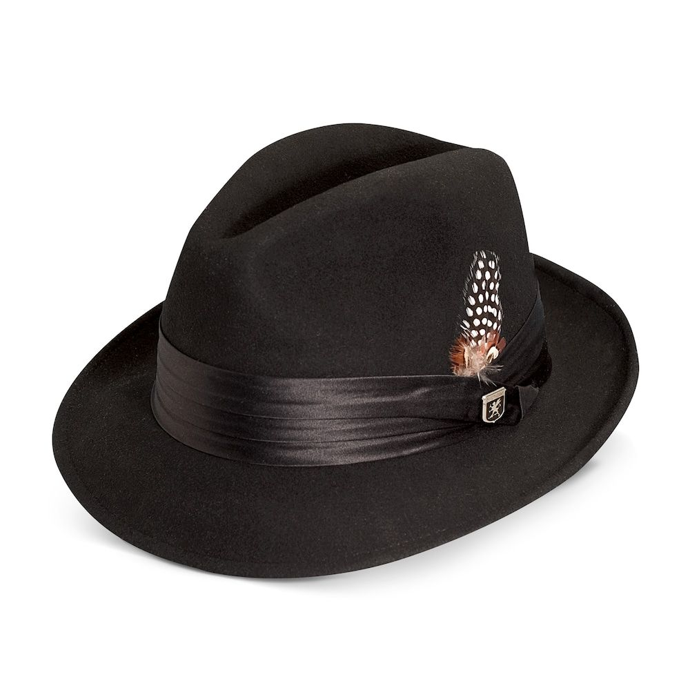 9b07e1ba4 Men's Stacy Adams Wool Felt Fedora With Feather | Products | Wool ...