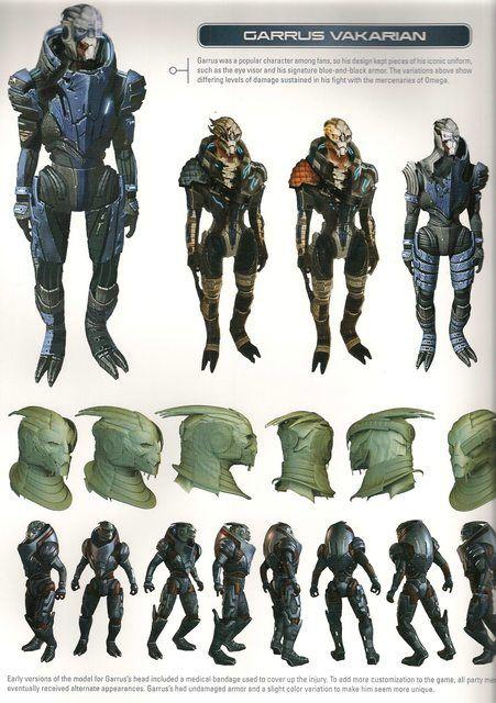 Me2 Artbook Concepts Garrus And Mordin Garrus Mass Effect Mass