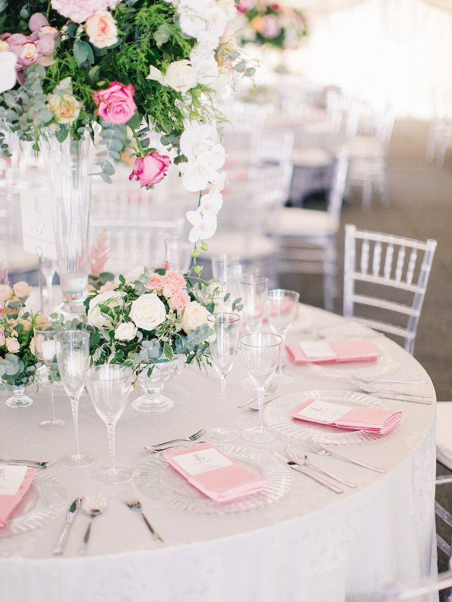 Elegantly Classic Rose Garden Party Wedding in Africa