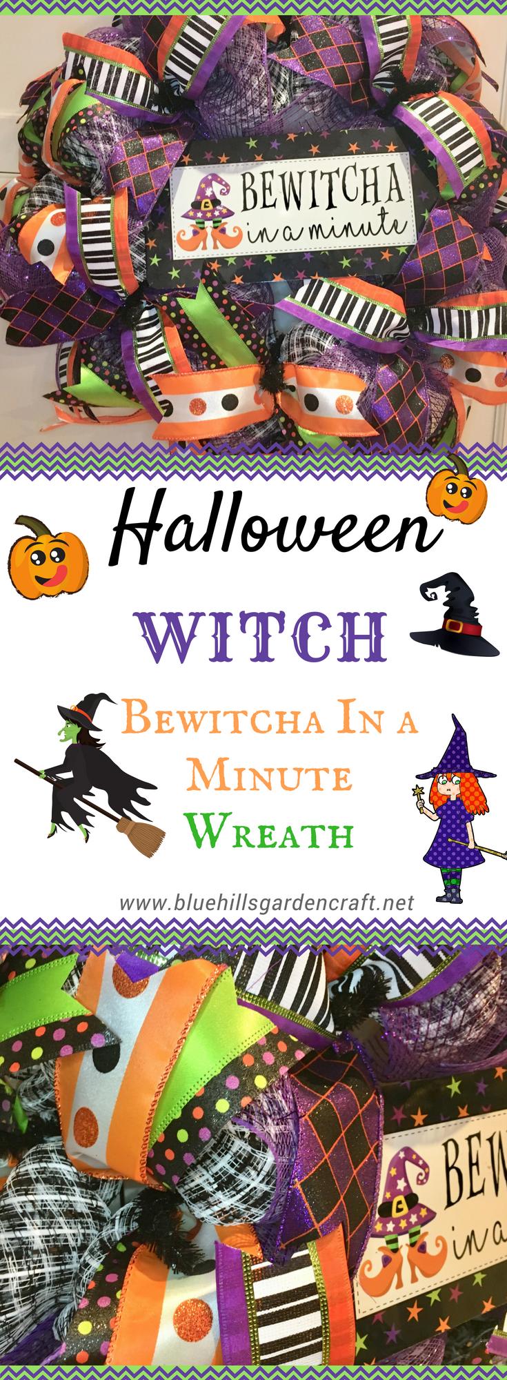 Halloween Wreath Bewitcha In A Minute Decor Halloween Decor Purple Door Decor Custom Door Wreath Witch Wreath Witch Hat Halloween Halloween Wreath Wreaths Door Decorations
