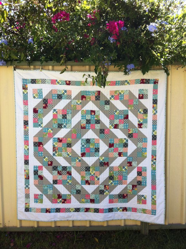 Unexpected Starts - Jacob's ladder quilt with tutorial
