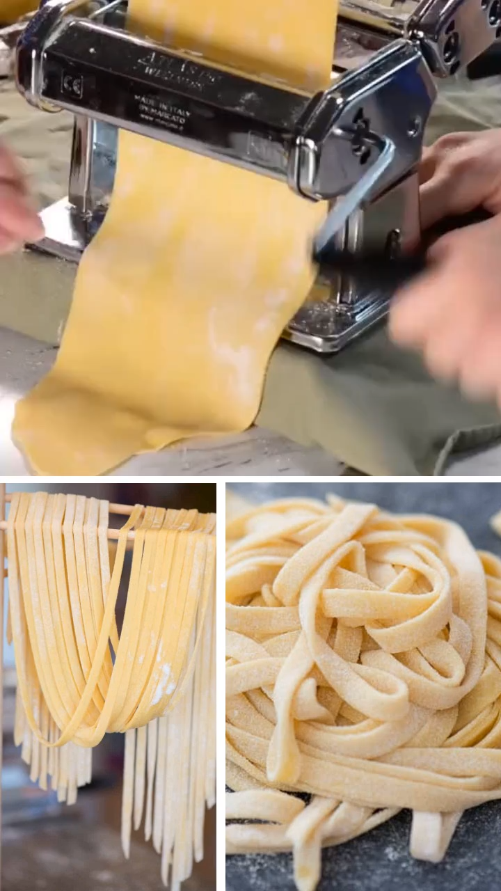 A fresh homemade pasta recipe that is fun and easy to make! Learn some homemade pasta tips and tricks! There are instructions on making homemade pasta with machine and homemade pasta without machine. Save this helpful pin!