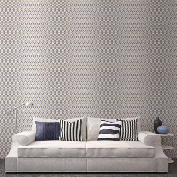 Papier peint Hicks\' Hexagon   David hicks and Contemporary