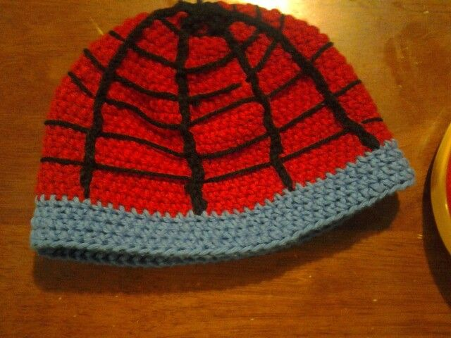 Finished a spiderman beanie for a little boy :)