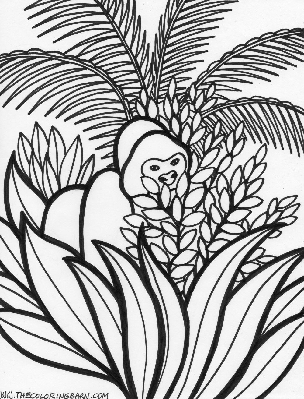 Coloring pages rainforest - Coloring Pages Of Jungle Animals Rain Forest The Coloring Barn Maybe Without