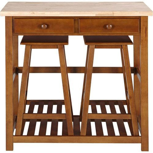 Kitchen Island E Saver With Adorable Little Stools That Tuck Underneath When They Re Not Being Used Love This