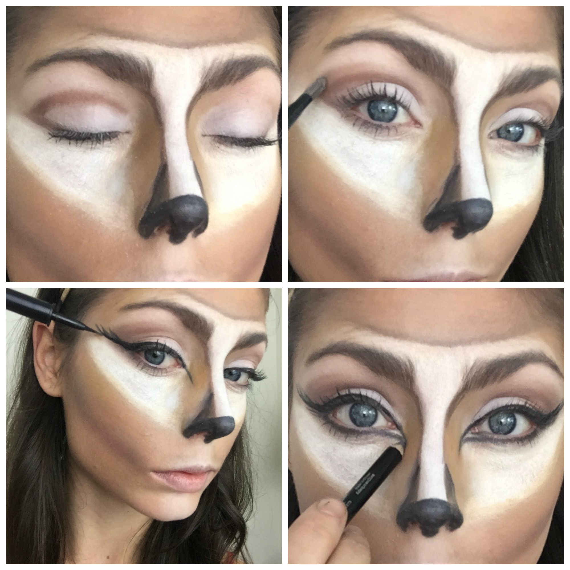 Image result for deer makeup step by step Deer makeup