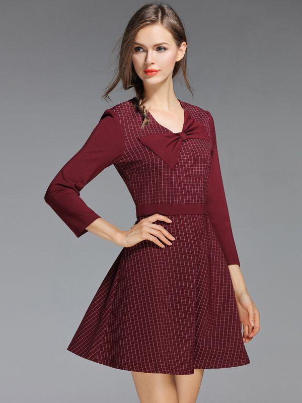 https://www.metisu.com/red-plaid-pattern-bowknot-front-decoration-mini-dress-5148.html